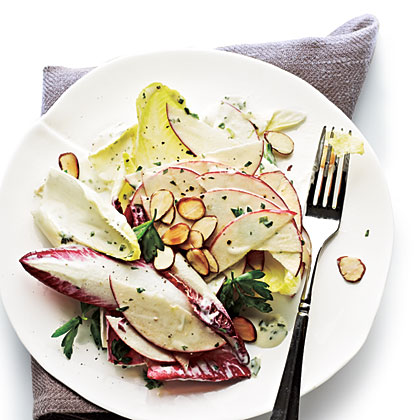 Apple, Almond, and Endive Salad with Creamy Herb Dressing
