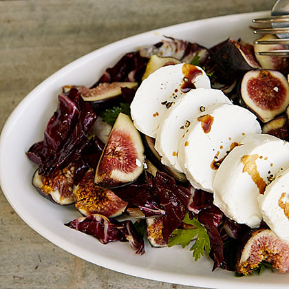 Fresh Goat Cheese and Radicchio Salad with Figs