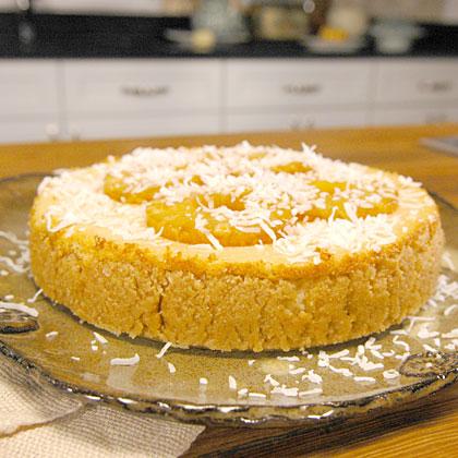 Gluten-Free Pineapple Cheesecake with Haupia Sauce