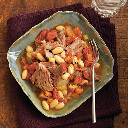 Tarragon Lamb Shanks with Cannellini Beans
