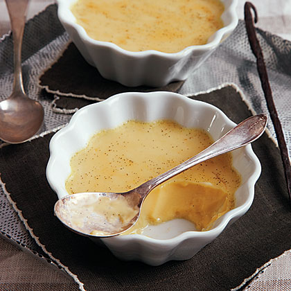 Vanilla Bean Baked Custard