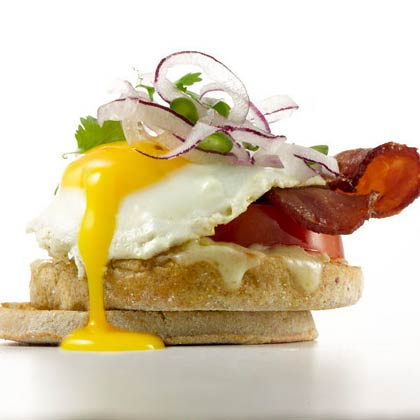 Bacon and Jalapeno Egg Sandwich