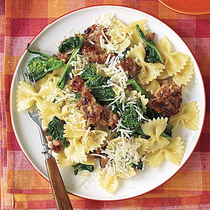 Bow Ties with Sausage and Broccoli Rabe