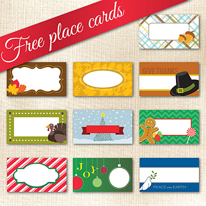 10 Holiday Place Cards