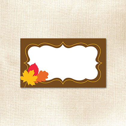 Fall Frame with Leaves Place Card