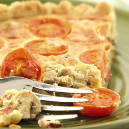 Bacon, Tomato and Mushroom Quiche