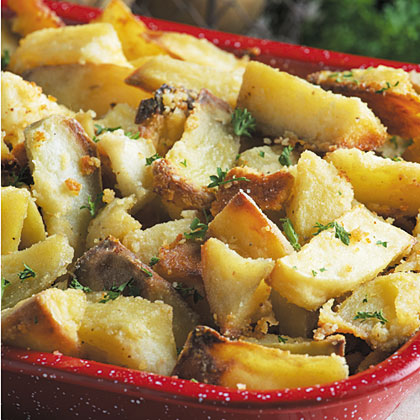 Golden Parmesan Roasted Potatoes
