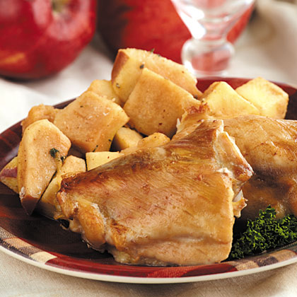 Roasted Chicken & Apples
