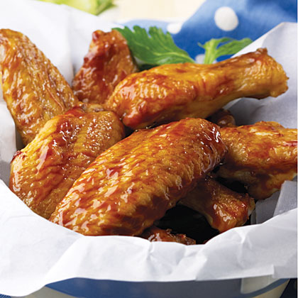 Spicy Honey-Molasses Wings