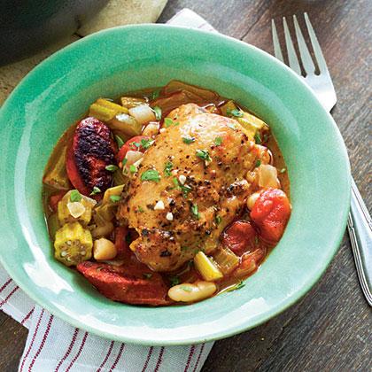 Cajun Chicken Cassoulet