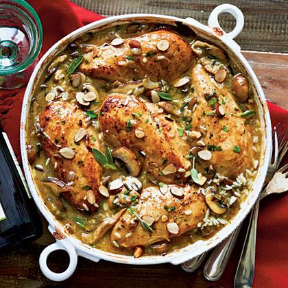 Chicken-Mushroom-Sage Casserole