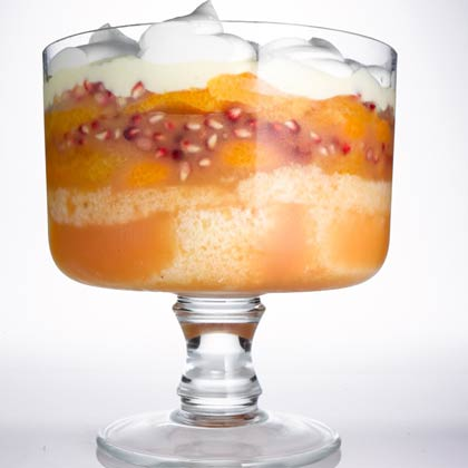 Orange, Almond, and Pomegranate Trifle