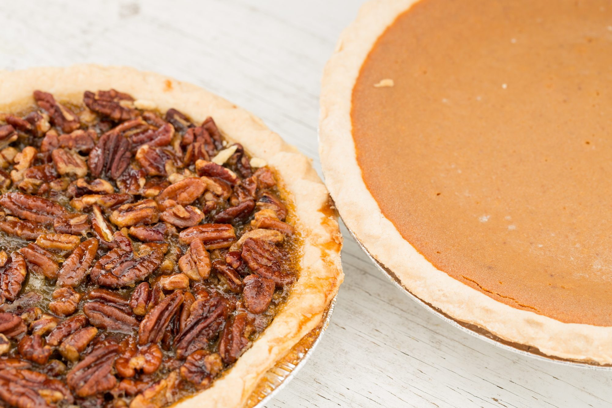 Pecan and Pumpkin Pie Getty 7/28/28