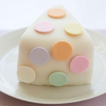 Polka Dot Cake Wedge