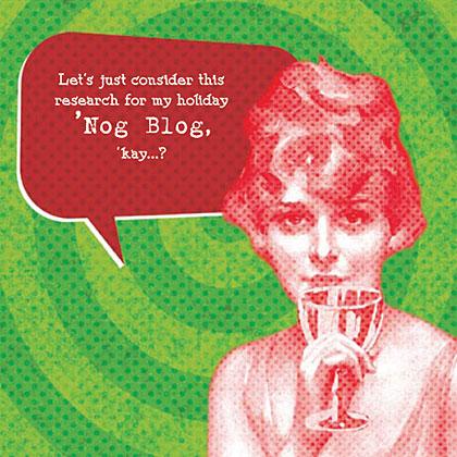 Nog Blog Cocktail Napkin