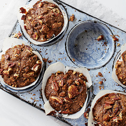 Gingerbread Muffins with Spiced Nut Streusel