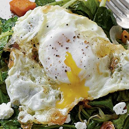 Olive Oil-Fried Eggs