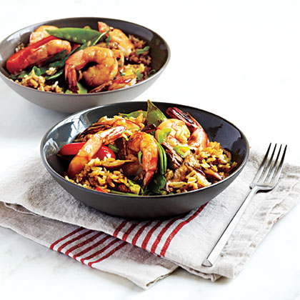 Shrimp and Shiitake Rice Bowl