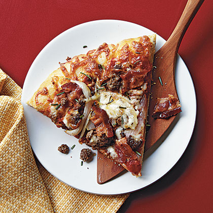 Beef and Bacon Pizza