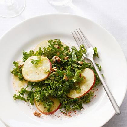 Shaved Honeycrisp Apple and Kale Salad