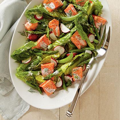 Spring Salmon and Vegetable Salad