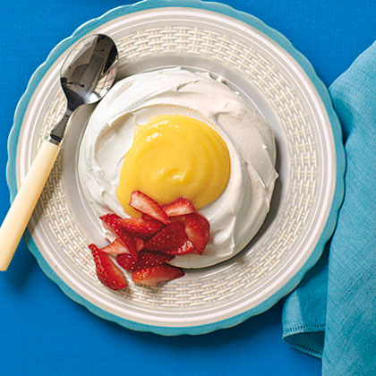 Lemon Curd-Filled Meringue Eggs