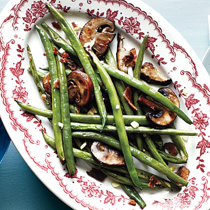 Smoky Haricots Verts and Mushrooms