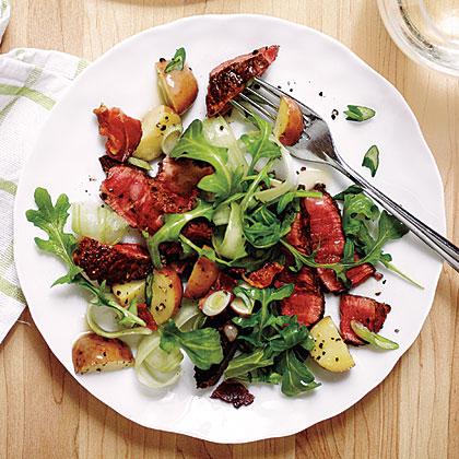 Warm Potato and Steak Salad
