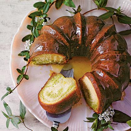 Green Tea-Honeysuckle Cake