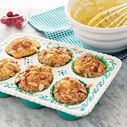 Raspberry-Almond Streusel Muffins