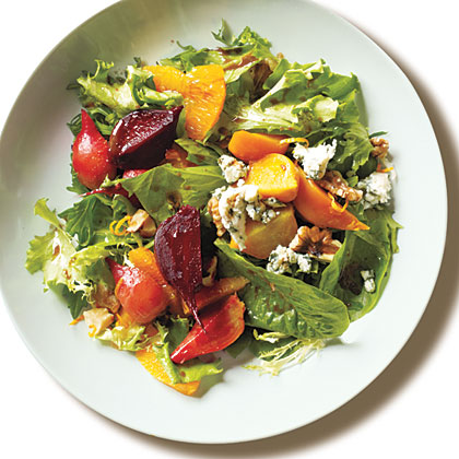 Roasted Baby Beets and Blood Orange Salad with Blue Cheese