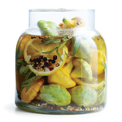 Pickled Baby Pattypan Squash