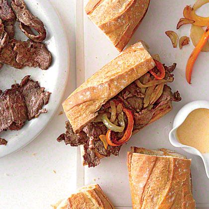 Short Rib Cheesesteak Sandwiches