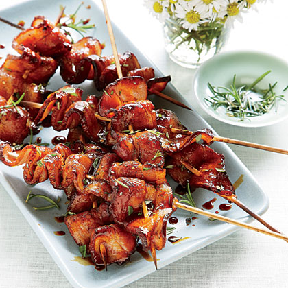 Grilled Balsamic-Molasses Bacon