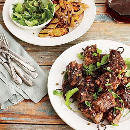 Steak and Fingerling Potato Kabobs