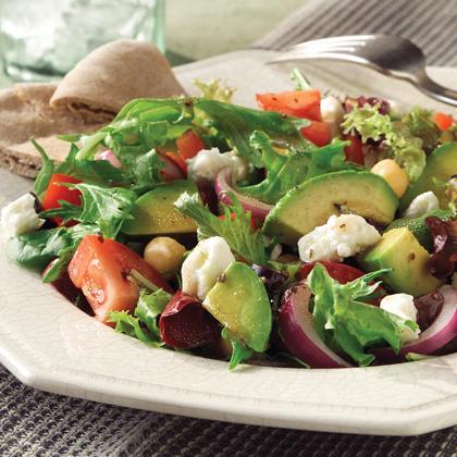 Mediterranean Salad with Feta Cheese