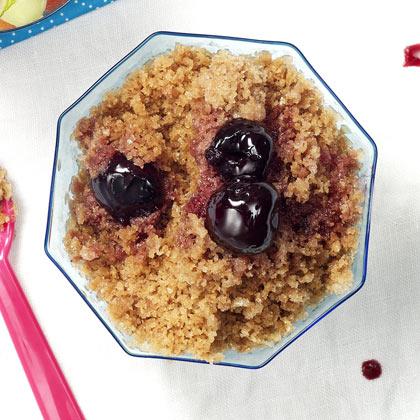 Roasted Cherries with Cocoa-Mocha Granita