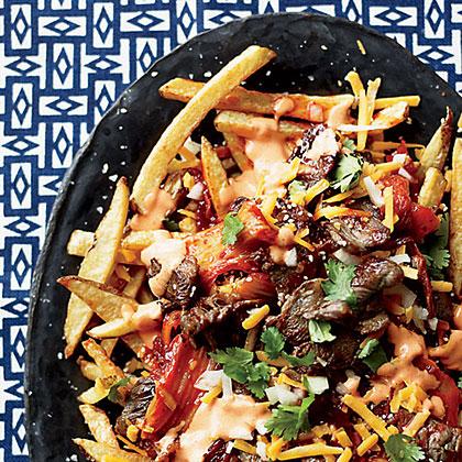 French Fries with Bulgogi and Caramelized Kimchi