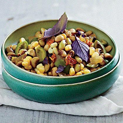 Field Pea and Purple Basil Succotash