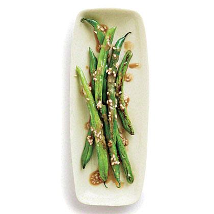 Ginger-Sesame Green Beans