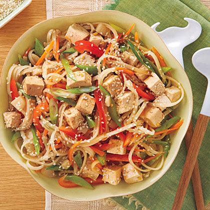 Rice Noodle Veggie-Tofu Salad