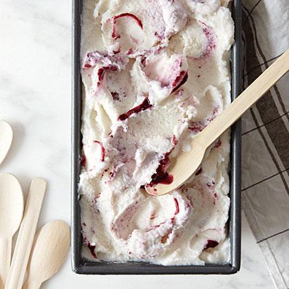 Blackberry Swirl Ice Cream