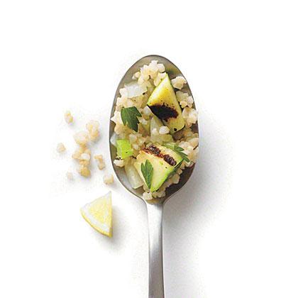 Grilled Zucchini Bulgur Pilaf