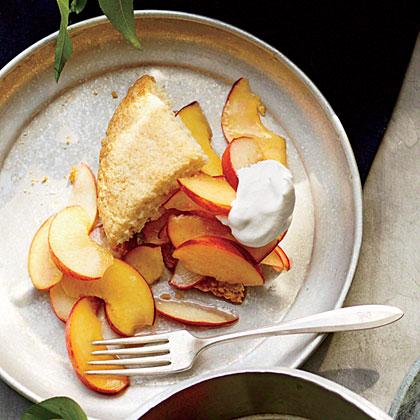 Peachy Almond Shortcakes