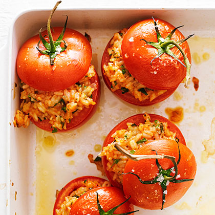 Risotto-Stuffed Tomatoes
