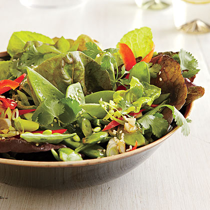 Mixed Greens Salad with Hoisin-Sesame Vinaigrette