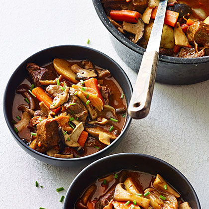 Mushroom, Beef, and Bacon Stew