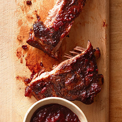 Smoked Ribs with Huckleberry BBQ Sauce
