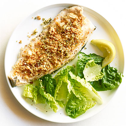 Trout with Pumpkin Seed-Sage Gremolata