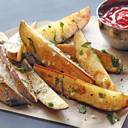 Garlic-Parsley Steak  Fries